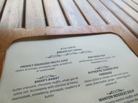 Tanjung Rhu Resort : Menu