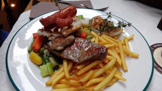 Glöckl Bräu: Carnes con verduras