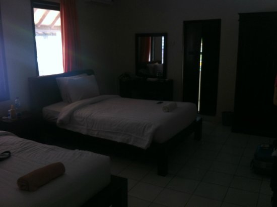 Puri Panca Jaya Hotel: room view 1 - very dark