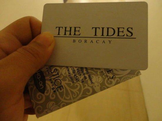 The Tides Boracay: key card