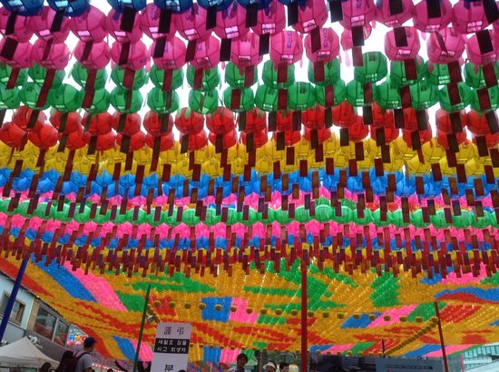 Jogyesa Temple: Colourful lantern display