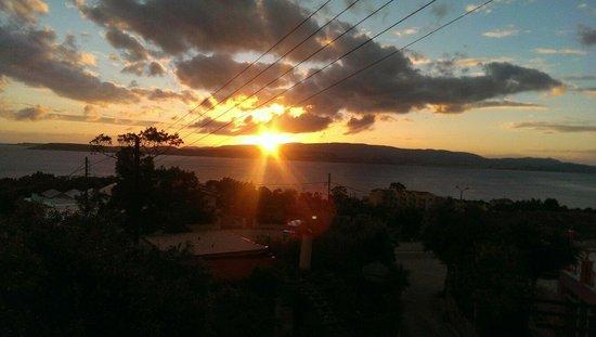 NikoStudios: Sunset view from sea view balcony at Niko.