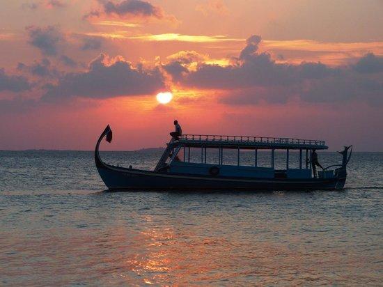 Velidhu Island Resort : il tramonto