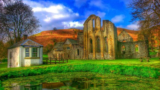 Valle Crucis Abbey: OK, I tweaked the colours...