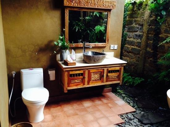 Ubud ArtVilla : outdoor toilet and bathroom, anyone?