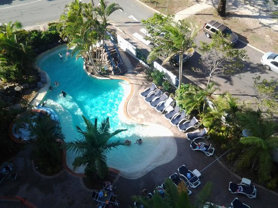 Ramada Resort Golden Beach: Looking down at the lovely pool