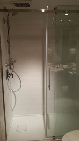 Hotel Manoir Victoria: Shower