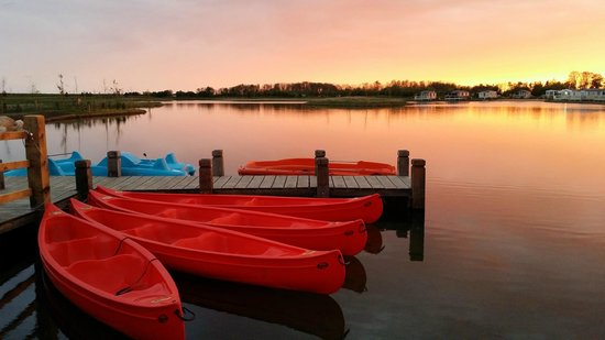 Otter Lake at sunset  Picture of Lakeland Holiday Park  Haven