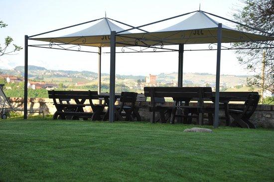 Alla Cascina Baresane : terraza panoramica