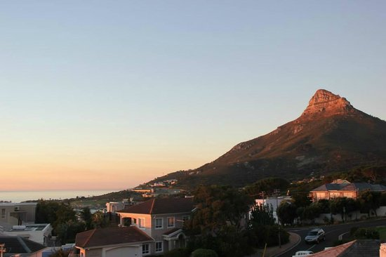 3 On Camps Bay Boutique Hotel: Lions Head in the setting sun (view from penthouse)