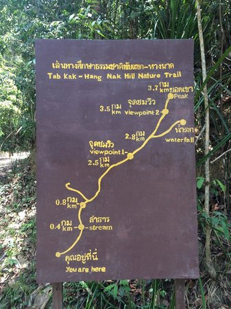 Amari Vogue Krabi: Map of nature walk about 500m from hotel