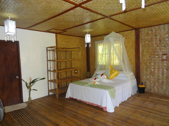 Treetops: The Bed in the garden cottage