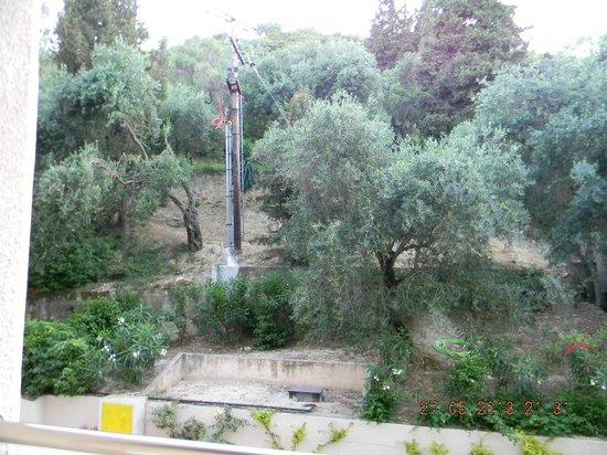 MarBella Corfu Hotel: Вид из номера (главный корпус)