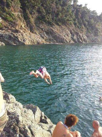 Hotel delle Rose : diving off the rocks