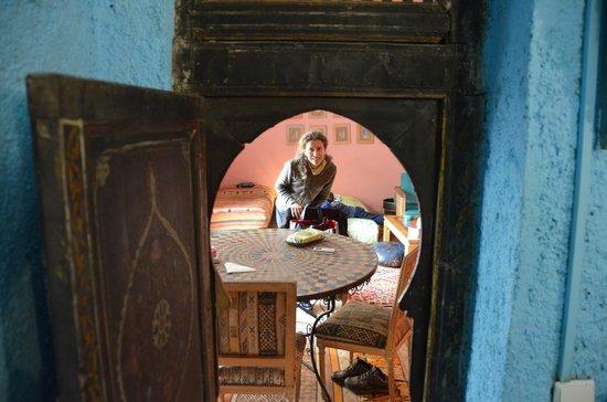 Riad Lune et Soleil: la porta del bagno