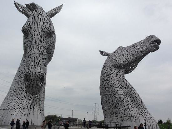 The Kelpies & The Helix : falkirk's local heroes.
