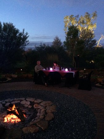 Under A Desert Moon: Campfire fine dining