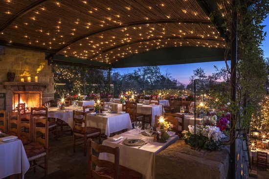 Stonehouse Restaurant Outdoor Patio Picture Of San Ysidro Ranch A Ty Warner Property Santa