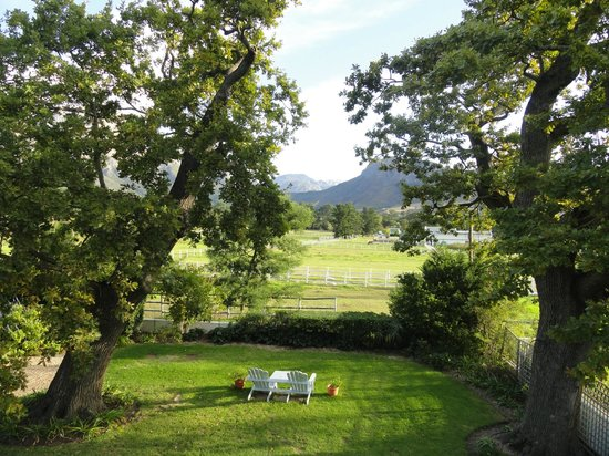 Auberge La Dauphine: View from the balcony