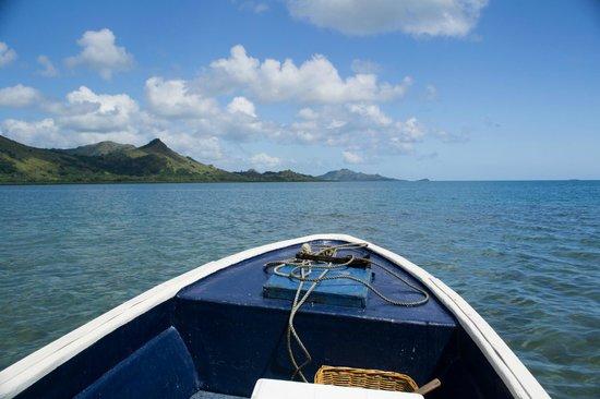 Nukubati Private Island: Heading to sandbank picnic