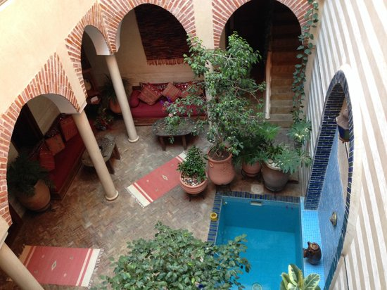 Riad Zen House : Vista do 2o andar