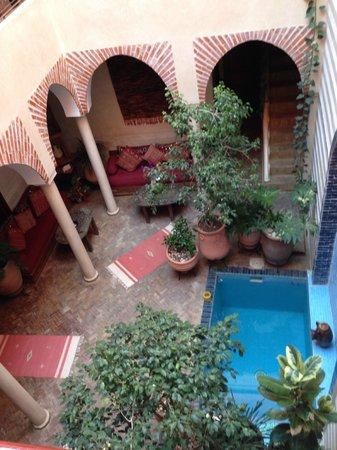 Riad Zen House : Vista da área comum