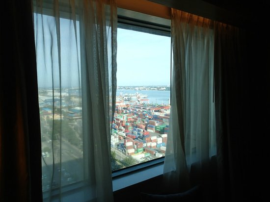Radisson Blu Cebu : View of the Port Area and Mactan Island across the channel