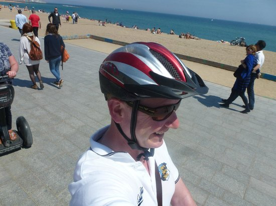 Barcelona Segway Fun: Along the see front