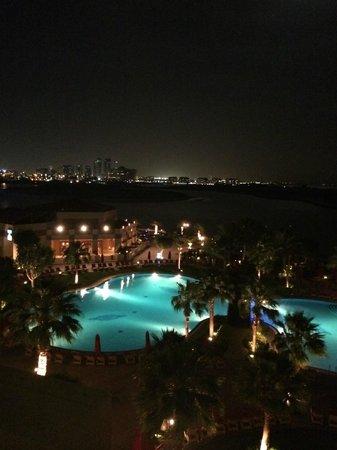 Khalidiya Palace Rayhaan by Rotana: Night view from room.