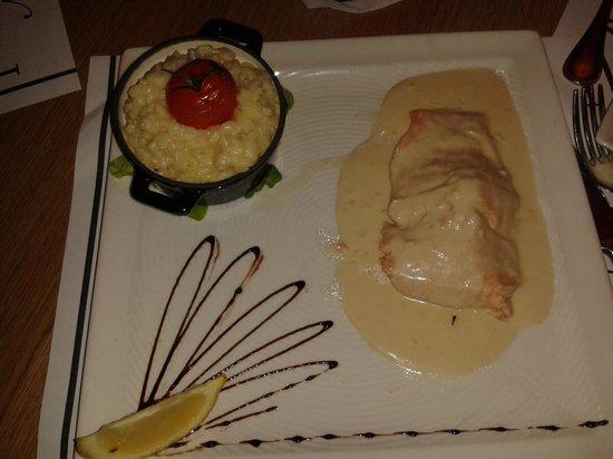 L'Edito: Salmon in Champagne sauce with Risotto