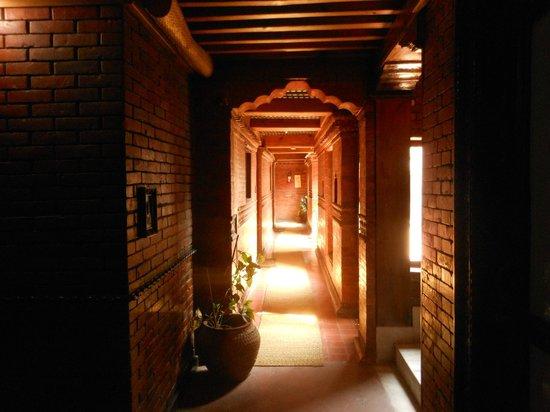Kantipur Temple House: Le couloir du second étage