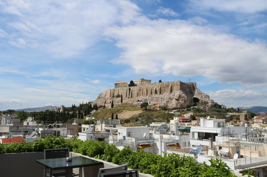 The Athens Gate Hotel: Acropoli dal rooftop