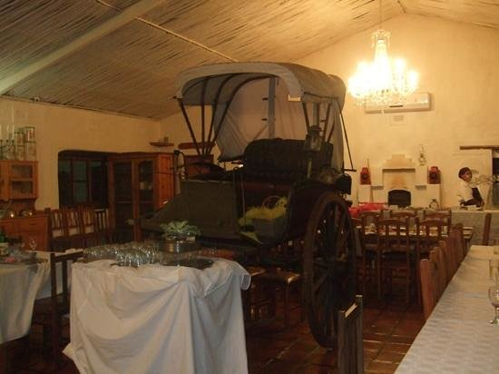 De Opstal: lovely old carriage in the restaurant