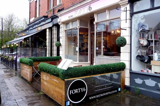 Bistro Forty Six: Main Entrance on Brentwood Avenue