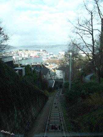 Mount Floyen and the Funicular (Floibanen): beim hochfahren