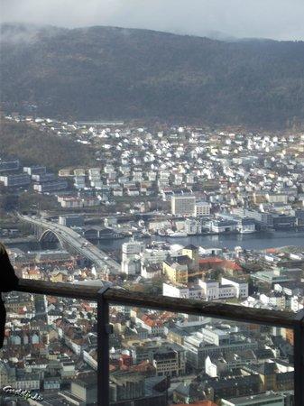 Mount Floyen and the Funicular (Floibanen): Stadtansicht