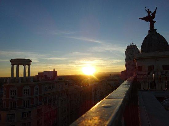 Hotel Vincci Via 66 : Sonnenuntergang von der Dachterrasse