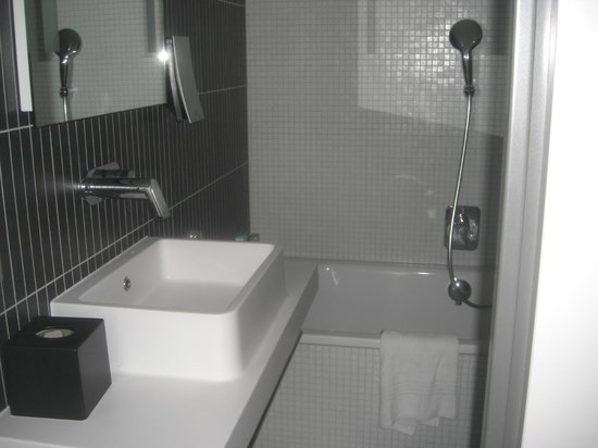 Novotel Suites Luxembourg: Tub and sink