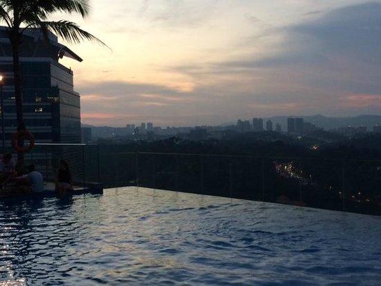 Aloft Kuala Lumpur Sentral: Rooftop at sunset