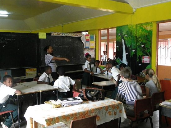 Rosalie Forest Eco Lodge: School in the village with host family
