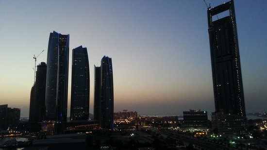 InterContinental Abu Dhabi: Sunset from the Culb Lounge.