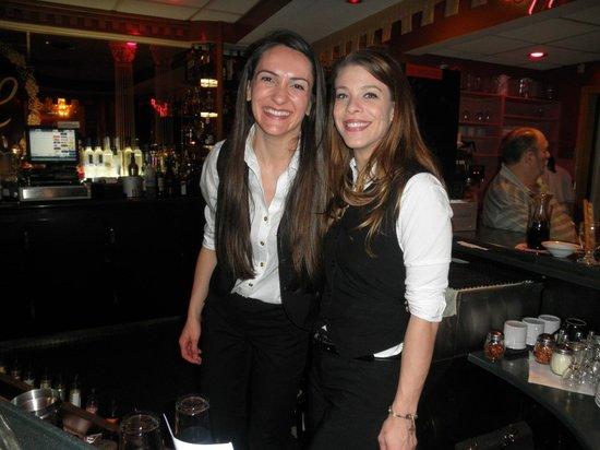 Luciano's italian Cusine: pretty sonyia & britney, bartenders at lucianos