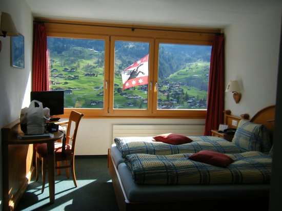 Jungfrau Lodge Swiss Mountain Hotel: 部屋からの眺め