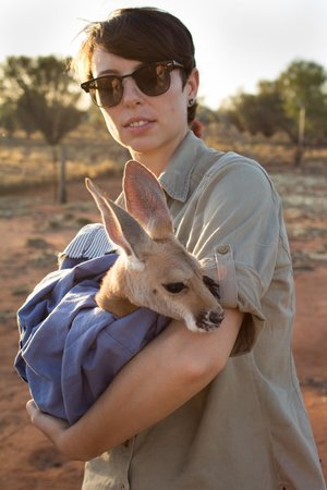 Jesse With Jesse Picture Of The Kangaroo Sanctuary Alice - Kangaroo sanctuary alice springs