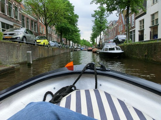 Wherels: canali di haarlem visti dalla barca