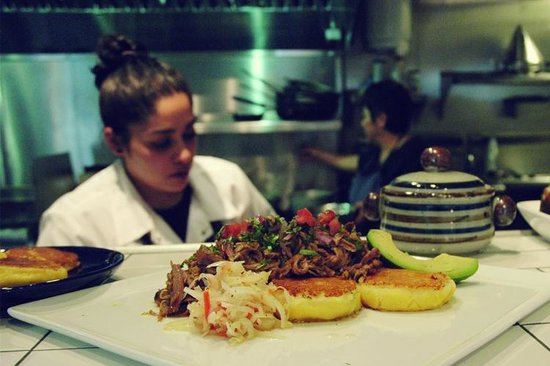 Mikuna Kitchen: Pernil con Llapingachos (Roasted Pork with Cheese-Stuffed Potato Patties