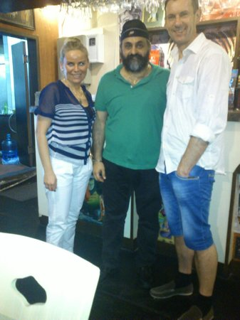 Ashoka India restaurant: together with the restaurant owner