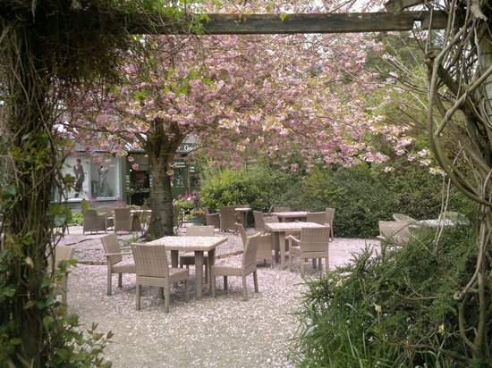 "Cafe at Mount Usher Gardens. An ""Irish"" day, so everybody were sitting inside when we first arri"