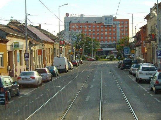 Ramada Oradea: ..ein erster Blick bei der Anreise.