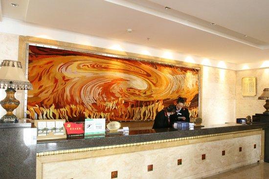Jiuzhai Resort Hotel: The reception counter